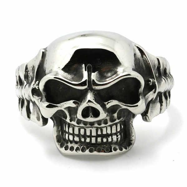 d9af706f66c4 Huge   Heavy Mens Boys 316L Stainless Steel Cool Punk Gothic Big Evil Demon Skull  Biker
