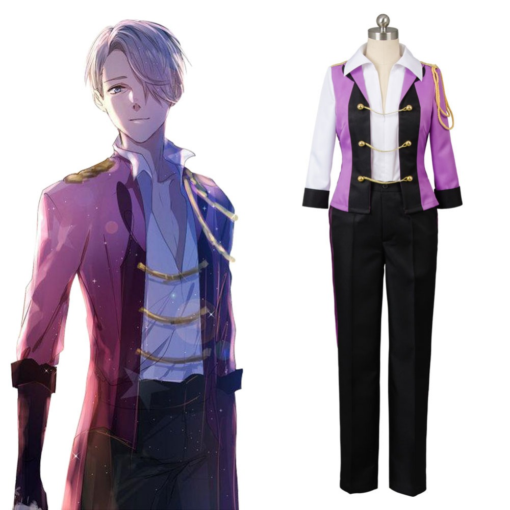 2017 Hot Victor Costume Yuri on Ice Victor Nikiforov Cosplay Uniform Suit Cosplay Costume Free Shipping