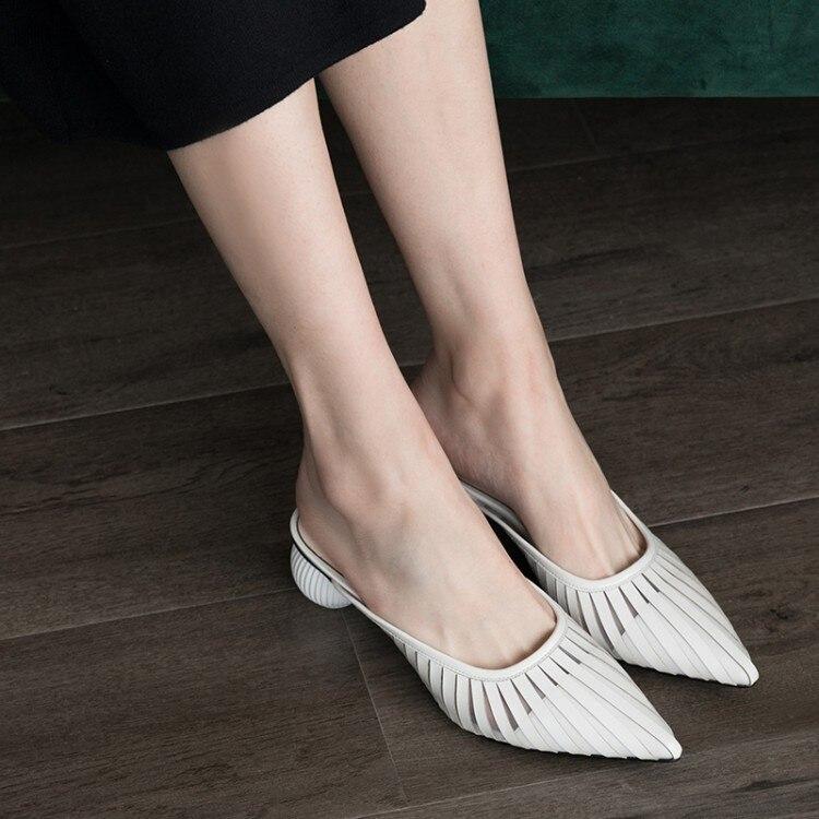 d6bffd821 Estranho Sapatos Branco 2019 Sandálias Senhora Das Pxelena 3443 amarelo  Mulheres Couro Lâminas Dedo Salto Verão ...