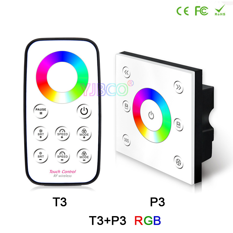 BC P1/P2/P3/P4+T1 T2 T3 T4 RF remote & LED Strip Light dimming/CT/RGB/RGBW Touch panel controller Brightness dimmer,DC12V-24V orient часы orient pmaa004w коллекция three star