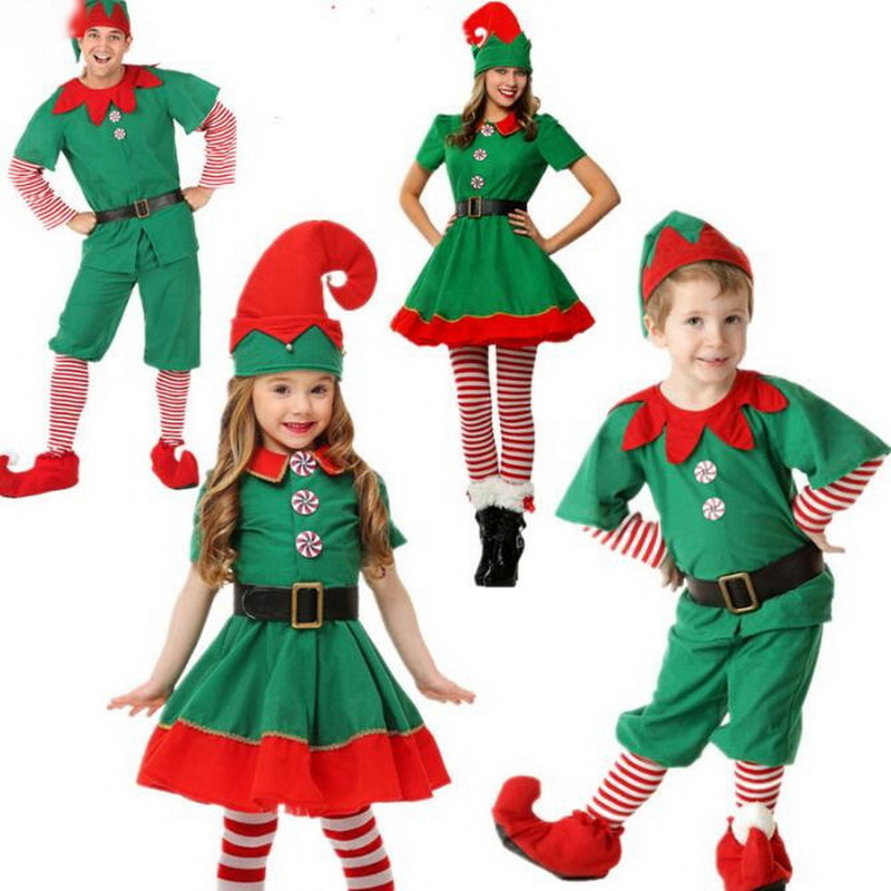 Family Christmas Cosplay Costume Family Matching Children Halloween Clothing Boy Girl Fancy Sets Navidad Family Matching Clothes