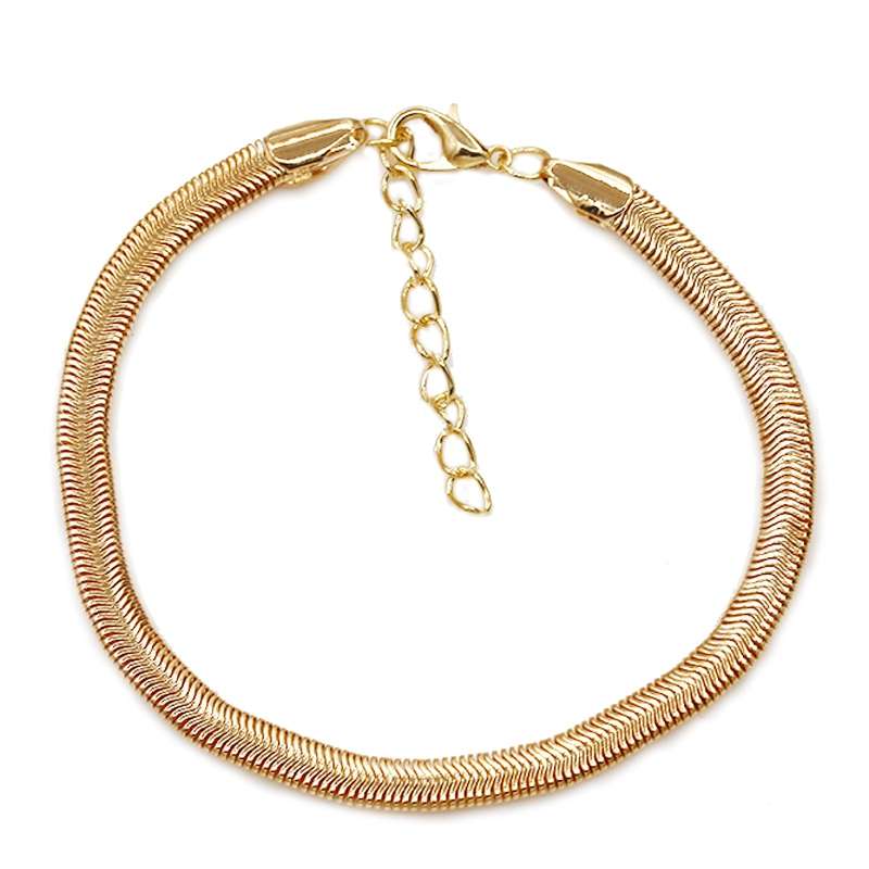 SHUANGR Classic Handcrafted Solid Silver Gold Snake Bracelet Anklet Fahion Snake Chain Coil Spring Anklet Women Beach Jewlery
