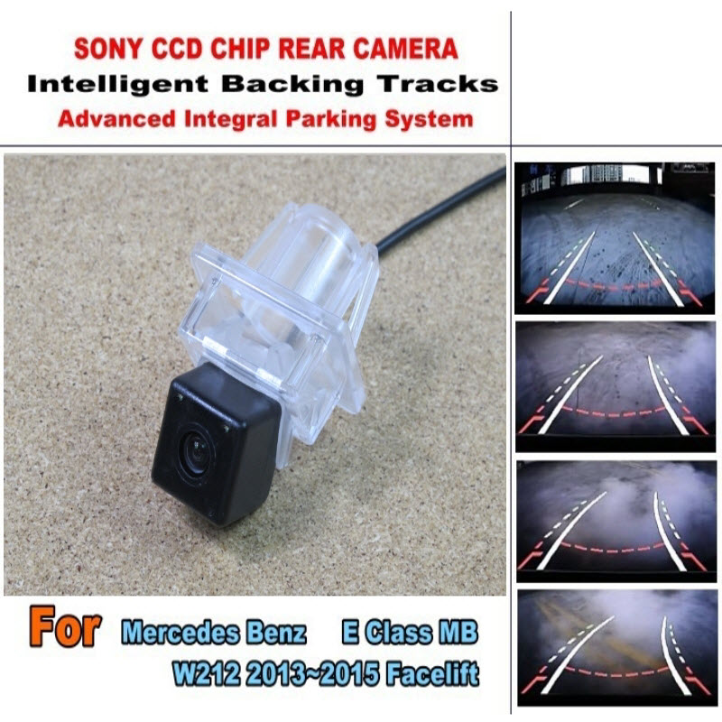 ФОТО Car Camera For Benz E Class MB W212 2013~2015 Facelift CCD Night Verson Rear View Camera Intelligent Parking Backup Tracks Chips