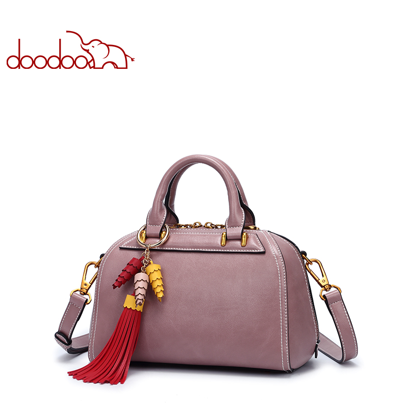 DOODOO Luxury Handbags Women Bags Designer Tote Bag Female Shoulder Crossbody Bags Pu Leather Tassel Design 2018 Messenger Bags women bags genuine leather tote over shoulder sling messenger crossbody tote fringe tassel big luxury designer female handbags