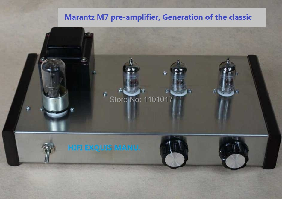 JBH 12AX7 Tube preamplifier Replica Famous M7 Pre-amp HIFI EXQUIS Lamp Pre-amplifier 1pcs high quality little bear p5 stereo vacuum tube preamplifier audio hifi buffer pre amp diy new