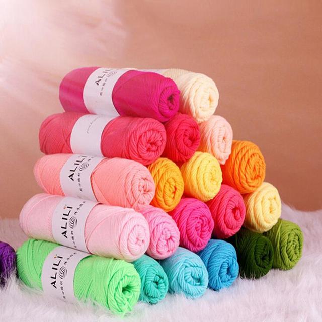 Bán buôn Tre Bé Mềm Sợi Crochet Bông Dệt Kim Sữa Bông Sợi Dệt Kim Len Dày Sợi katoen garen lanas para tejer