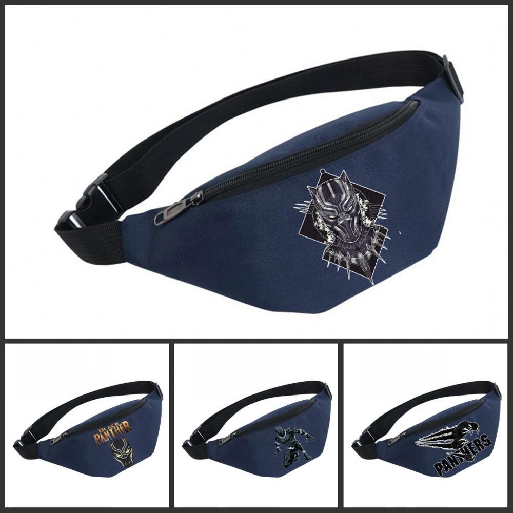 Movie Waist Bag Women Belt Waterproof Chest Handbag Unisex Fanny Pack Ladies Waist Pack Belly Bags For Black Panther