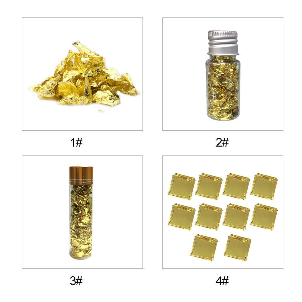 10 Chiếc Vàng 24K Lá Vẩy Vàng Bột Thực Phẩm Ăn Được Trang Trí Viền Giấy Ẩm Thực Bánh Mousse Nướng Bánh Ngọt Nghệ Thuật thực Phẩm Trang Trí