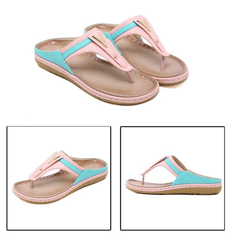 2019 Summer Women Shoes Flip Flops Ladies Beach Sandals Plus Size Women Sandals Flat Women Flip Flops Fashion Luxury Brand A912