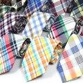 2016 algodón mariage barato hombre moda delgado lazo masculino corbata de la tela escocesa formal kravat corbatas de alta calidad corbata de boda