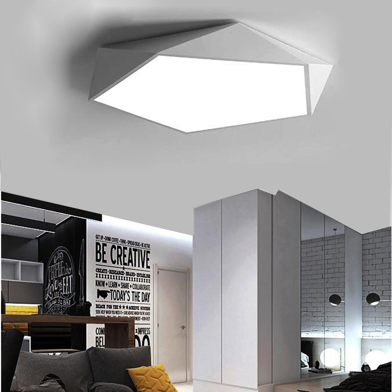 Super Thin 5CM LED Ceiling Lights Absorption Lamp Geometric Ceiling Lamps for Living Room Dining Room