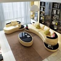 Раскладной кожаный диван с кожей