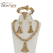 MUKUN Jewelry Sets Dubai Bridal African Wedding Jewellery Sets For Indian Beads Jewelry Set Women Vintage Party Accessories(China)