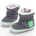 Botas de Nieve caliente Lovely Baby Boys Primeros Caminante Suela Blanda antideslizante, Además de Terciopelo Zapatos de Bebé de Invierno Niñas Niño Zapatos 0-18 meses