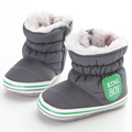 Warm Lovely Baby Snow Boots Boys First Walkers Soft Soled Antiskid Plus Velvet Winter Baby Shoes Girls Toddler Shoes 0-18 Months