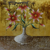 Oil Painting Canvas Hand Painted Abstract Flower Wall Art Picture For Living Room Paintings Canvas Modern