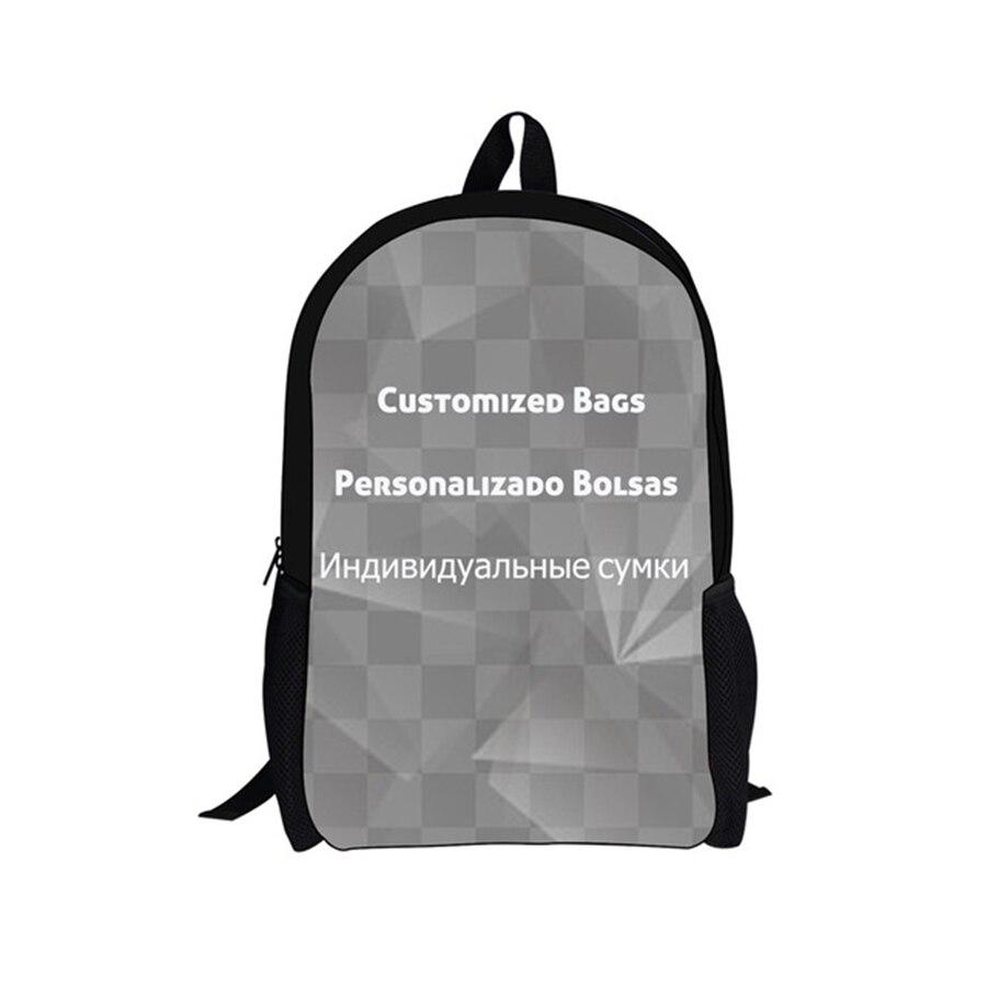Customized Image Logo Backpack Women Men Travel Bags Compass Children School Bags Boys Girls Book Bag