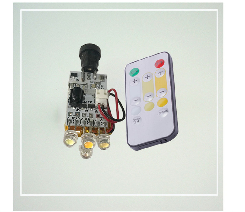 100pcs 3D printing moon lamp circuit board triple color with remote straw hat lamp bead touch