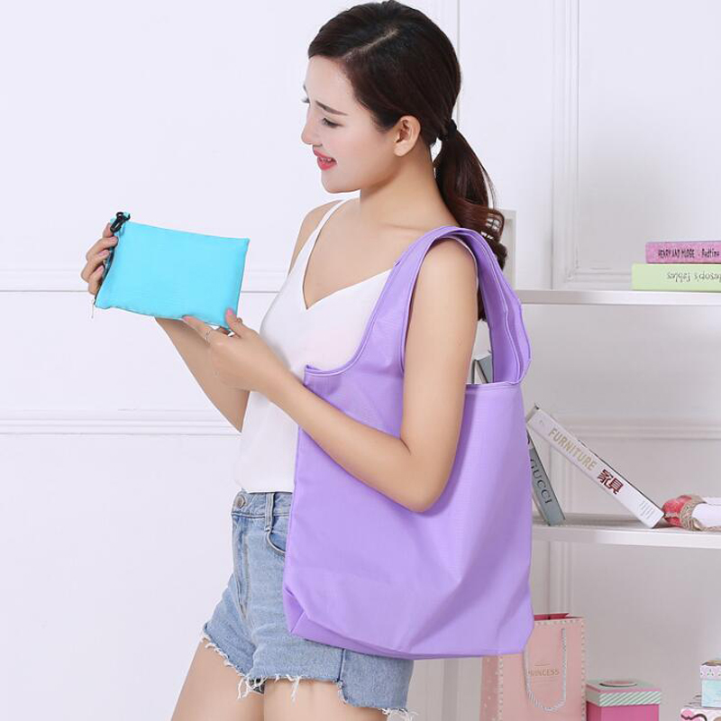 200pcs/lot Eco Shopping Bag Reusable Cloth Fabric Grocery Packing Recyclable Hight Simple Design Healthy Tote Handbag