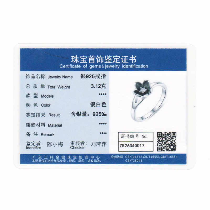 คุณภาพสูง 925 เงินสเตอร์ลิง Mystic Floral STACKABLE แหวนแต่งงาน CZ และเคลือบสีดำสำหรับเครื่องประดับ XCH7154