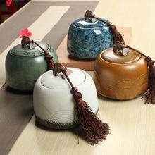 850ML tea caddy ceramic canister storage tank clay pots tea