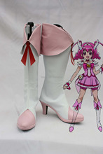 Pretty Cure Smile Cure Happy cosplay Shoes Boots Custom-Made(China)
