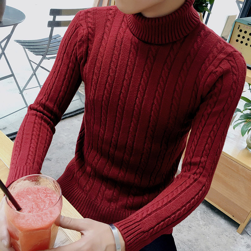 Men turtleneck sweater contracted business and leisure warmer winter 2016 high-quality luxurious sweater black/white/gray/red