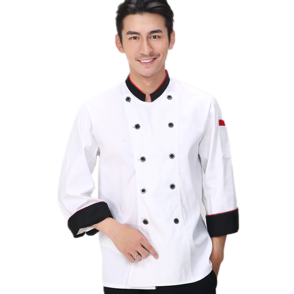 Popular White Chef Coat-Buy Cheap White Chef Coat lots from China ...