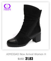 aimeigao высокое качество полусапожки замшевые женские сапоги из мягкой кожи двойной молнии короткие плюшевые ботинки демисезонный сапоги и ботинки для девочек обувь большого размера