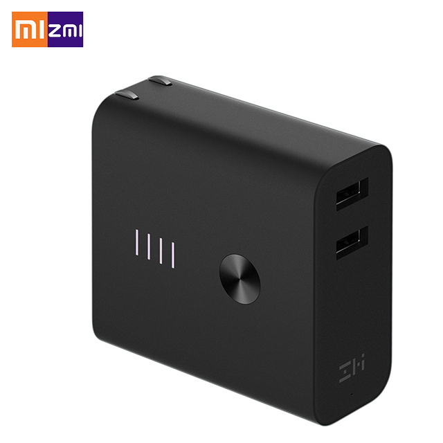 XIAOMI ZIMI  Fast Charger QC 3.0 5V 3A 2 IN 1 Wall Charger and 6500mAh Xiaomi Power Bank Zmi Power Bank