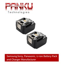 2 X PANKU 14.4V 3000mAh High Capacity no Memory Effect Rechargeable Battery Drills Replacement battery for MAKITA BL1430 Battery