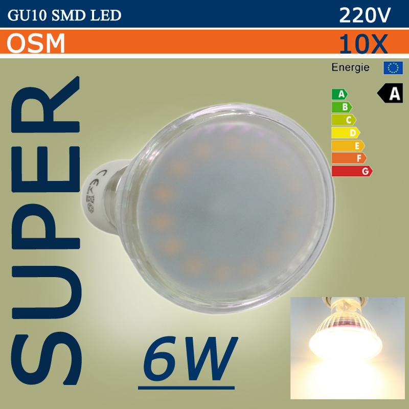 buy hot lampada led lamp gu 10 220v smd. Black Bedroom Furniture Sets. Home Design Ideas