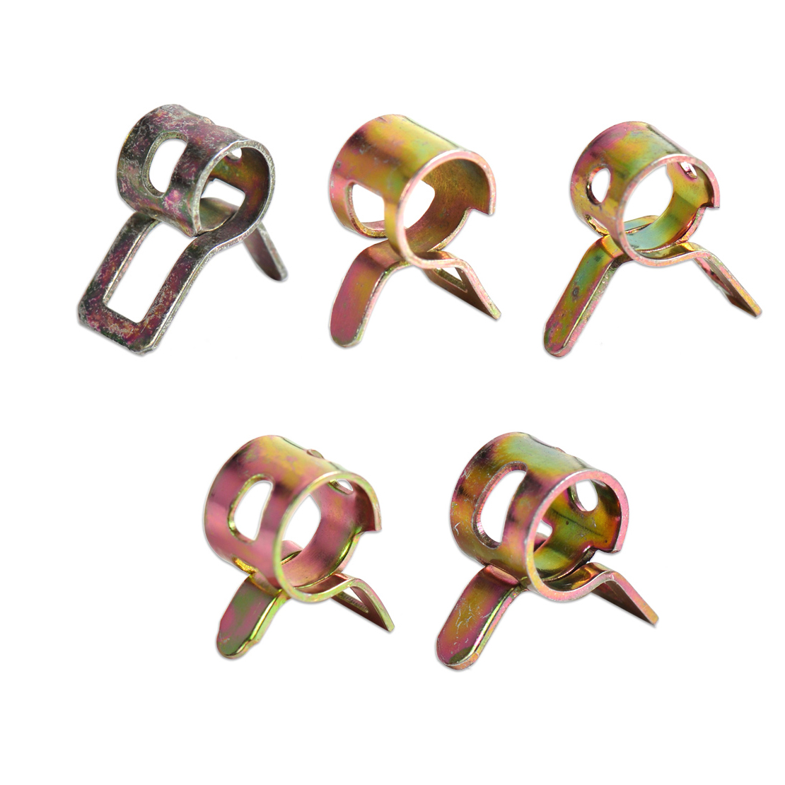 CITALL Motorcycle 50pcs Spring Clip Vacuum Fuel Hose Clip Line Silicone Pipe Tube Band Clamps Fastener for BMW Suzuki Yamaha ATV 3 76mm turbo intercooler pipe3 chrome aluminum piping pipe tube t clamps silicone hoses
