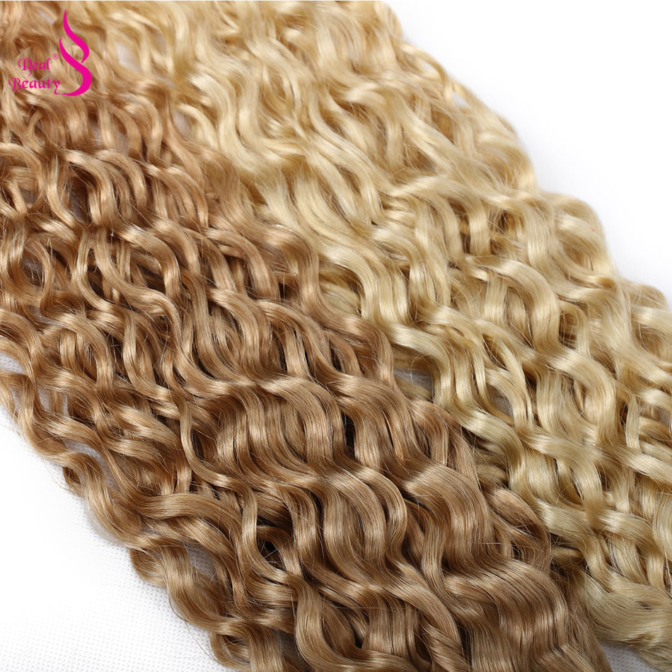 Water Wave Ombre Hair Bundles P27/613 Highlight    6