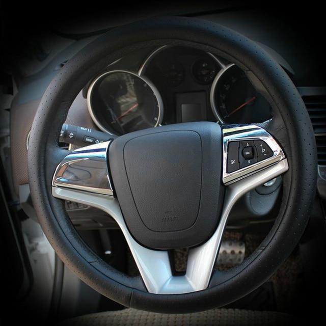 VCiiC 자동차 스티어링 휠 크롬 트림 커버 삽입 스티커 액세서리 Chevrolet Cruze 2009 2014, Cruze 용 자동차 스타일링