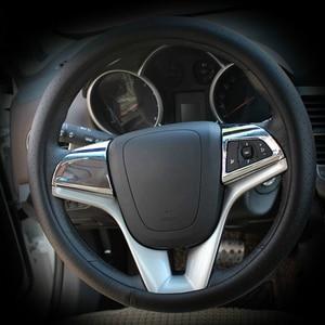Image 1 - Vciic車のステアリングホイールクロームトリムカバー挿入ステッカーシボレークルーズ 2009 2014 、車のスタイリングのためのクルーズ