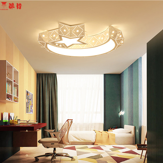 Online shop creative star half moon led ceiling light 85 265v 24w creative star half moon led ceiling light 85 265v 24w led child baby room lights ceiling lamps bedroom decoration lights aloadofball
