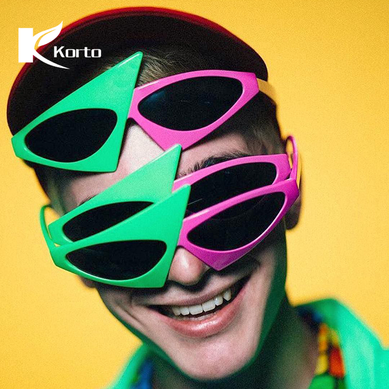 Pink and Green Roy Purdy Sunglasses Trending Products 2018 Men Hippie Eyeglasses Party Rave Festival Glasses Cool Pieces Eyewear
