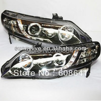For Civic LED Head Lamp Angel Eyes with Projector Lens 2006 2011 year