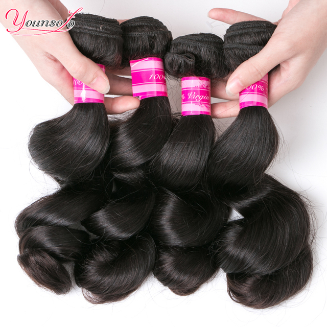 Malaysian Virgin Hair Loose Wave 7A Unprocessed Virgin Hair Malaysian Virgin Hair 4 Bundles Malaysian Loose Wave 100% Human Hair