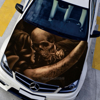 3D Auto Styling Matte Wirkung Haube Aufkleber Aufkleber Exterior Zubehör Aufkleber Auf Teufel Und Schönheit Graffiti Auto Aufkleber CNS2365-in Autoaufkleber aus Kraftfahrzeuge und Motorräder bei