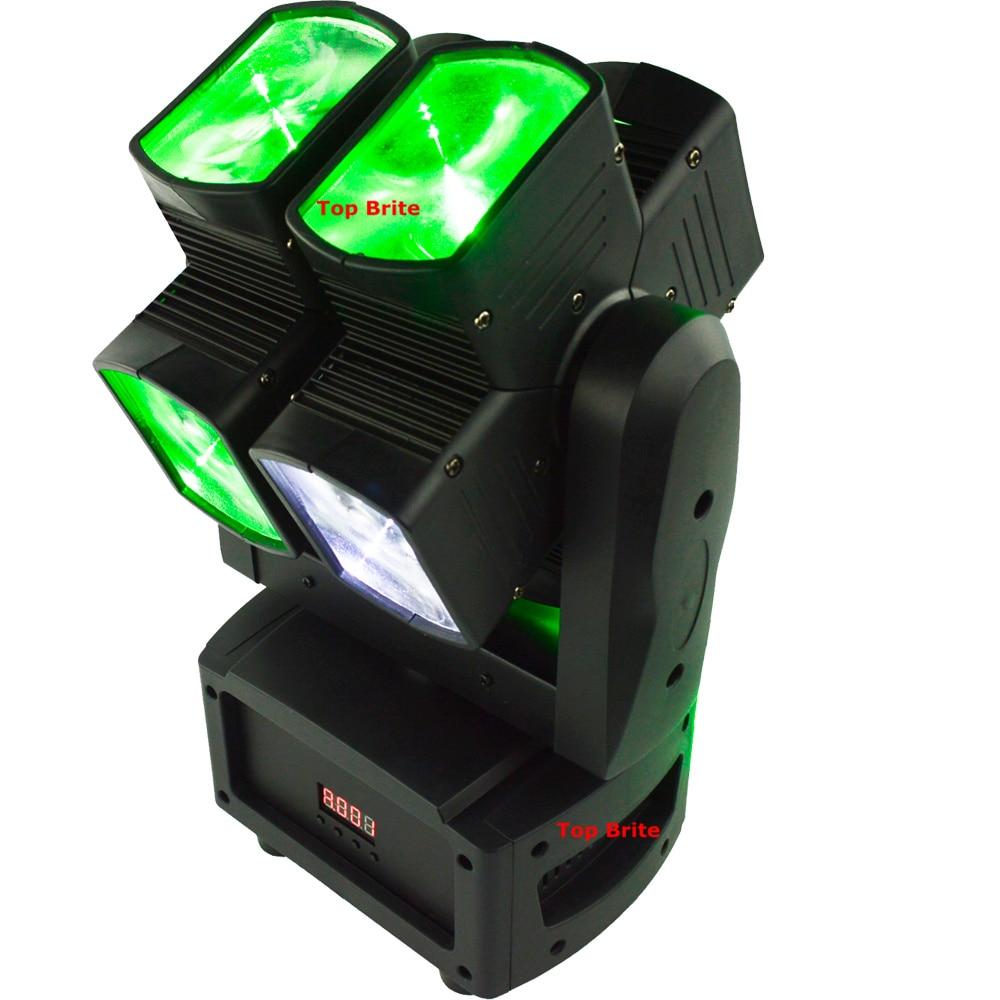 2xLot Penghantaran Percuma 8 * 12W RGBW 4IN1 Unik Dual Paksi Bergerak - Pencahayaan komersil - Foto 2