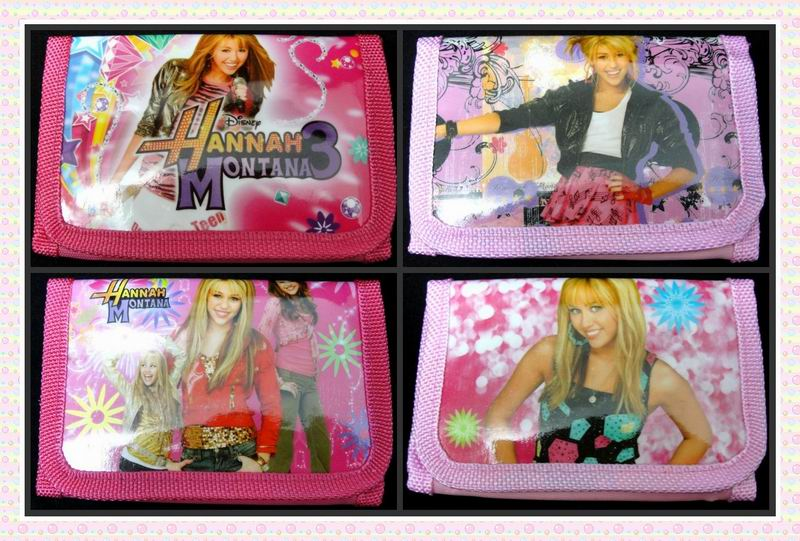 12Pcs Cute Girls 3D Cartoon Hannah Montana Wallets Money Bag Change Pocket Purse for kids Children Gift