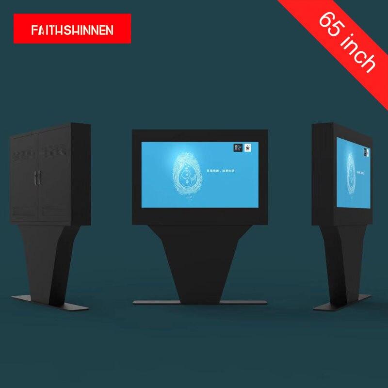 Affichage numérique de joueur d'écran d'affichage à cristaux liquides de publicité extérieure de totem de 65 pouces