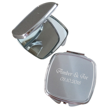 50Piece Customized Party Gift For Guests Mini Make Up Mirror Personalized Wedding Favor For Guests Engrave