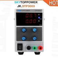 SKYTOPPOWER New STP3003 0 30V 0 3A Regulated DC Power Supply 3 digit Display Switching Laboratory Power Supply 220V EU Plug