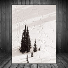 Canvas Painting Abstract Wall Pictures Art Decoration Pictures Prints Scandinavian Nordic Snow Tree Landscape Natural No Frame(China)