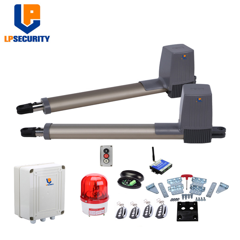 LPSECURITY DC24V Linear Actuator Dual Automatic Swing Gate Opener Pro Residential Operator Access System