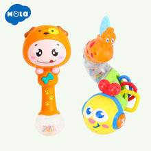 Fingers Flexible Training Science Flashing Twisting Worm & Baby Shaker Sand Hammer Toy Musical Instrument(China)