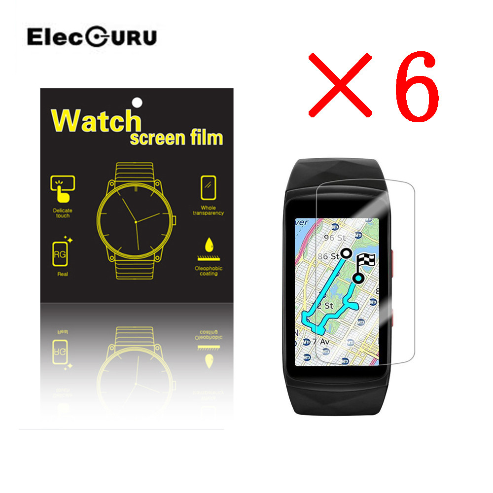Tempered Glass Screen Protector For Samsung Gear Fit 2 Pro Watch Premium HD Scratch Resistant Explosion-proof Film(3/6 Pack)